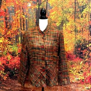 Coldwater creek fall tweed jacket size 14